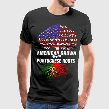 American Grown With Portuguese Roots - Men's Premium T-Shirt