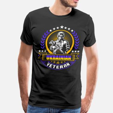 Ukrainian Girlfriend Ukrainian Veteran - Men's Premium T-Shirt