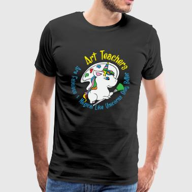 Art Teachers Are Fabulous & Magical Like Unicorns - Men's Premium T-Shirt