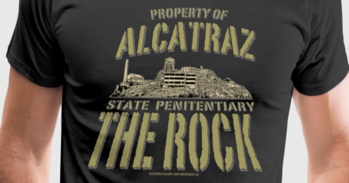 Property of alcatraz t shirt spreadshirt for Property of shirt designs