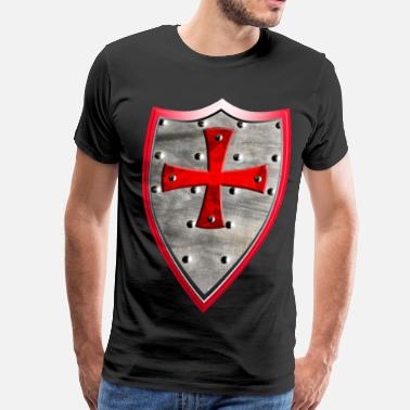 Weapon Crosses Knights Templars Crusaders Cross weapon shield - Men's Premium T-Shirt