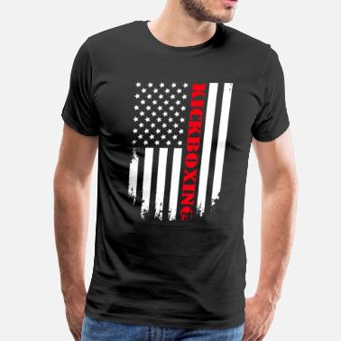 Flag Boxing Patriotic Kickboxing Player - Flag - Men's Premium T-Shirt