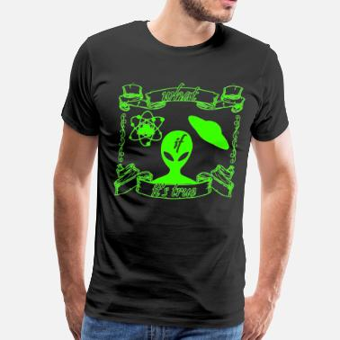 Alien Face ALIEN - Men's Premium T-Shirt