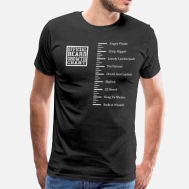 Ruler Funny Beard Ruler Shirt - Men's Premium T-Shirt