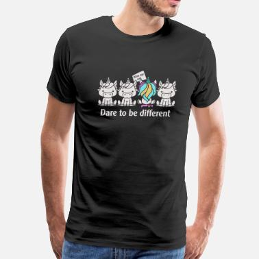 Dare To Be Different Dare to be Different Unicorn - Men's Premium T-Shirt
