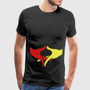 Wisdom Freedom and Peace Hands - Men's Premium T-Shirt