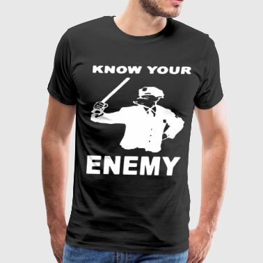 Know Your Enemy Pig Anti Police Ac Ab Antifa Hoo - Men's Premium T-Shirt
