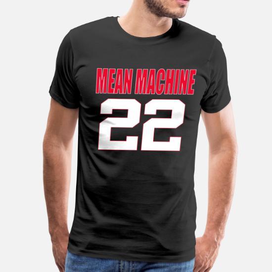 bc8e19291 Football T-Shirts - The Longest Yard - Mean Machine 22 - Men s Premium T
