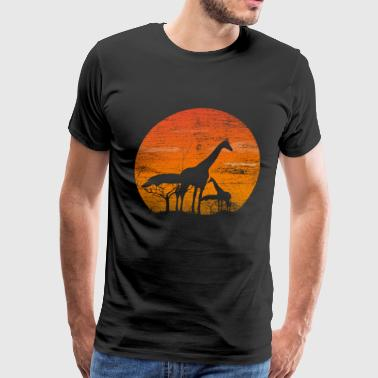 Giraffe safari - Men's Premium T-Shirt