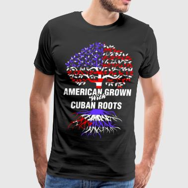 American Grown With Cuban Roots - Men's Premium T-Shirt