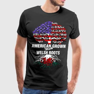 American Grown With Welsh Roots - Men's Premium T-Shirt