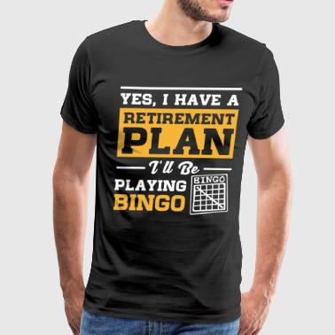 Playing Bingo Retirement - Men's Premium T-Shirt