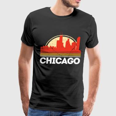 Classic Retro chicago City Skyline Vintage Shirt - Men's Premium T-Shirt