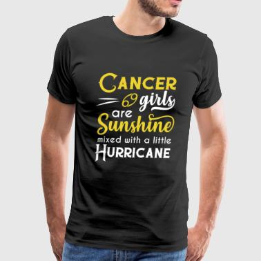 Cancer Zodiac Sign Cancer Girls Are Sunshine Mixed With A Little Hurricane Zodiac Star Sign Birthday Horoscope Gift Ide - Men's Premium T-Shirt