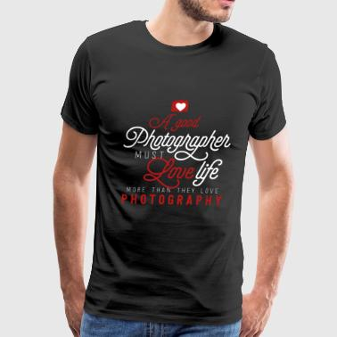Photographer Photo Photography Cam Picture Gift - Men's Premium T-Shirt