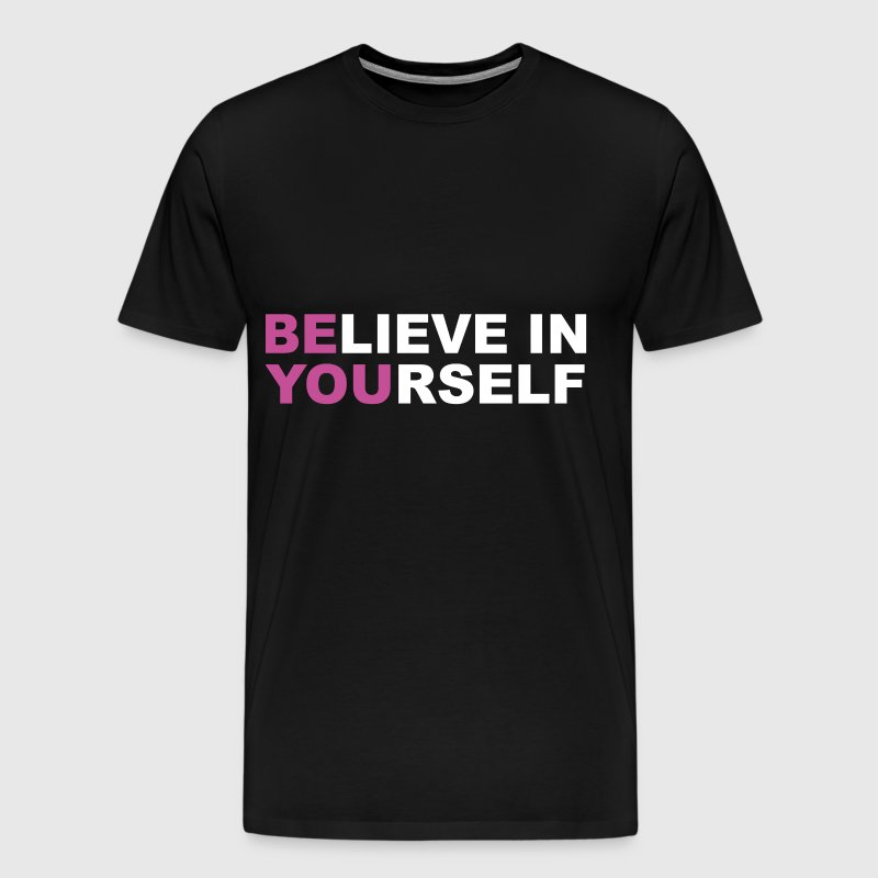 Believe in Yourself motivation gym workout - Men's Premium T-Shirt