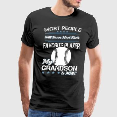 Grandpop most favorite player my grandson is mine baseball - Men's Premium T-Shirt