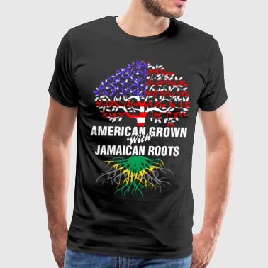 Jamaican American Grown With Jamaican Roots - Men's Premium T-Shirt