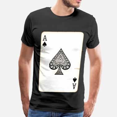 Card Smoking Ace Card - Men's Premium T-Shirt