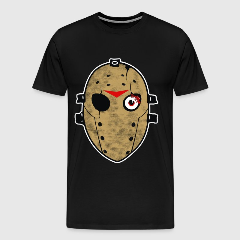 Halloween Hockey Mask - Men's Premium T-Shirt