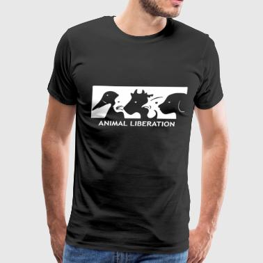 ALF Animal Liberation Front animal rights activist - Men's Premium T-Shirt