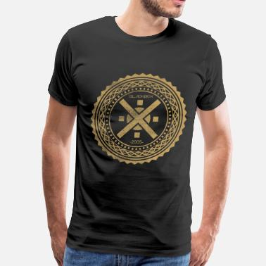Tattoo Stencils Intricate Circle Stencil Ornament  - Men's Premium T-Shirt