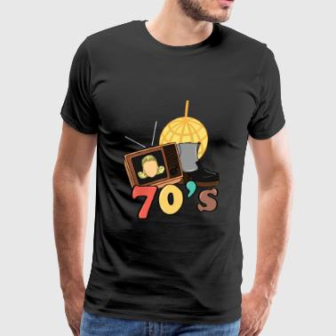70's style technology vintage gift idea - Men's Premium T-Shirt
