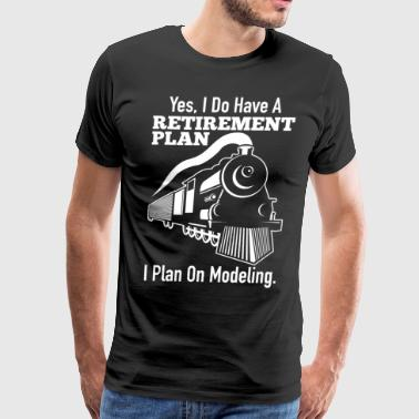 Model Train Funny Gift - Men's Premium T-Shirt