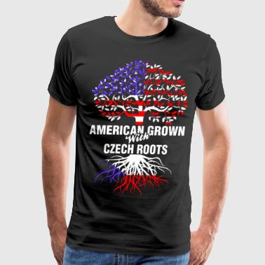 American Grown With Czech Roots - Men's Premium T-Shirt