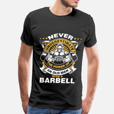 GYM MOTIVATION - BARBELL - Men's Premium T-Shirt
