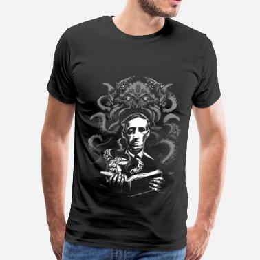 Glowinthedark Cthulhu luau record - Men's Premium T-Shirt