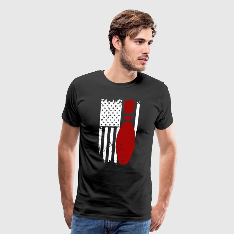 Bowling Flag Shirt - Men's Premium T-Shirt