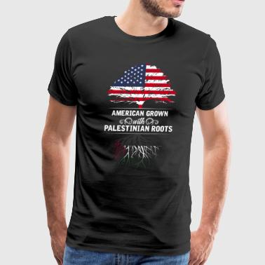Palestinian American grown with Palestinian roots - Men's Premium T-Shirt