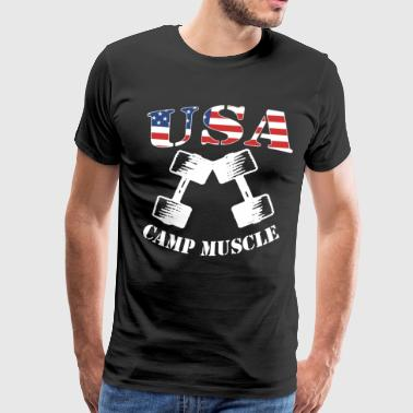 Camp Muscle Bodybuilding New CAMP MUSCLE USA frien - Men's Premium T-Shirt