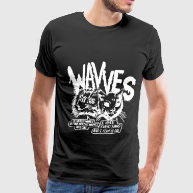 Authentic Wavves Cynical Cats Indie Grunge Punk Ro - Men's Premium T-Shirt