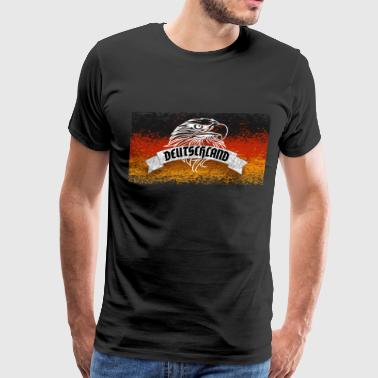 german Germany eagle flag Worldcup - Men's Premium T-Shirt