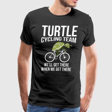 turtle cycling team we ll get there when we get th - Men's Premium T-Shirt