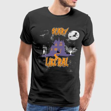 Scary Liberal Halloween Shirt Witch Tee Gift Idea - Men's Premium T-Shirt