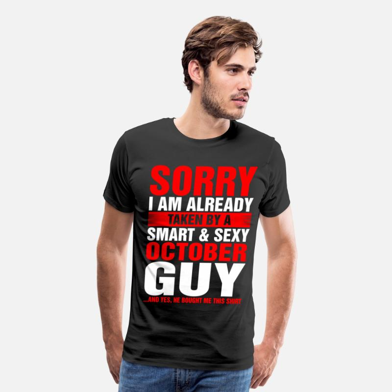 2018 T-Shirts - Smart And Sexy October Guy - Men's Premium T-Shirt black