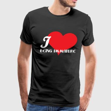 Nap Meme Funny Description Immature Tshirt Design I love being Immature - Men's Premium T-Shirt
