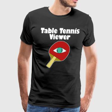 Donkey Funny Animal Funny Ping Pong Table Tennis Player Shirt Pingpong viewer - Men's Premium T-Shirt