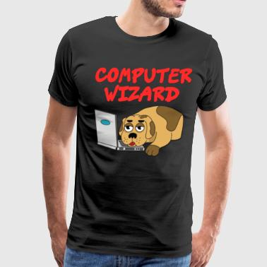 Best Designed Awesome & Trendy Tshirt Designs COMPUTER WIZARD - Men's Premium T-Shirt