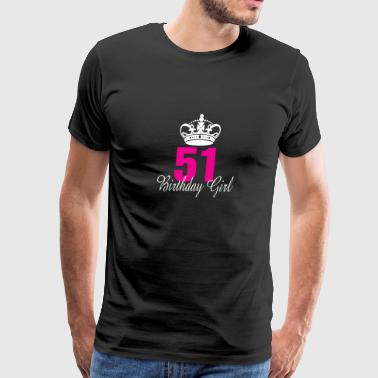 Birthday Girl 51 Years Old - Men's Premium T-Shirt