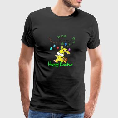 Easter, easter bunny, easter egg, easter, happy - Men's Premium T-Shirt