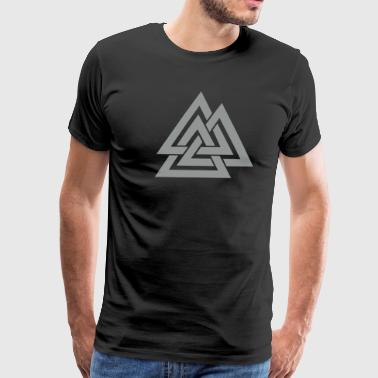 Symbol Warriors Germanic Valknut, Wotan's Knot, Odin, Walhalla, Asgard - Men's Premium T-Shirt