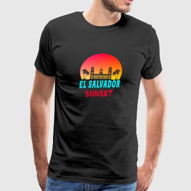 Miguel El Salvador Sunset Gift San Salvador State Land - Men's Premium T-Shirt