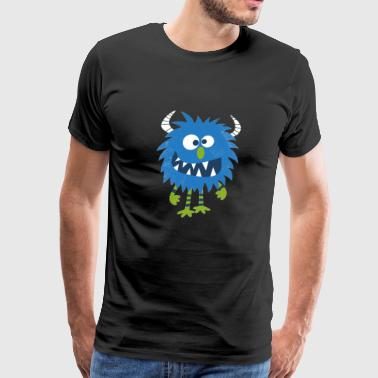 Blue Happy Monster - Men's Premium T-Shirt