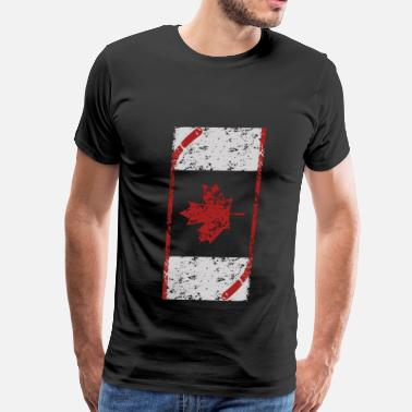 Canadian Hockey Canadian hockey - Canadian love hockey - Men's Premium T-Shirt