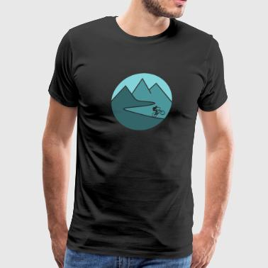 mountain bike cycling mountains - Men's Premium T-Shirt