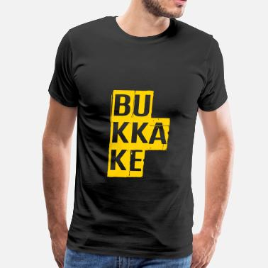 Japan Insults Bukkake, Provocative, Porn, Cumshot, Dirty, NSFW - Men's Premium T-Shirt